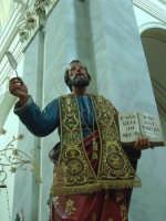 Statua di S.Matteo Apostolo nel giorno della festa esposta alla venerazione dei fedeli ( 21 Settembre ).  - Trepunti di giarre (6672 clic)