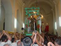 festa del patrono S. antonio Abate il momento del rientro in chiesa a tarda serata ( prima domenica di settembre ).  - Santa domenica vittoria (5046 clic)