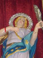 I santi martiri Alfio, Filadelfo e Cirino sull'altare maggiore nel giorno della festa ( prima domenica di maggio ), particolare della statua di S.Cirino.  - Sant'alfio (2677 clic)