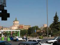 Piazza della Repubblica con con la torre del castello e la cupola del Colleggio  - Alcamo (768 clic)