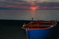 Tramonto sulla costa tirrenica - Calderà  -  Foto di Giuseppe Accordino BARCELLONA POZZO DI GOTTO GI