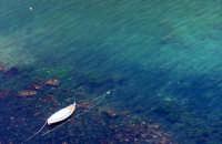 Acireale (CT) - Santa Maria la Scala  -  barca con fondale in trasparenza  - Foto di Giuseppe Accordino  - Acireale (2873 clic)