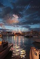 Fuochi di Sant'Agata - Uscita del 5 Febbraio 2012 I fuochi dell' uscita di Sant 'Agata del 5 febbraio 2012 visti dal porto  - Catania (1842 clic)