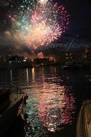 Fuochi di Sant'Agata - Uscita del 5 Febbraio 2012 I fuochi dell' uscita di Sant 'Agata del 5 febbraio 2012 visti dal porto  - Catania (1818 clic)