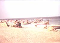 Veduta da lontano della Processione a mare dell'Immacolata estate 19....  - Nizza di sicilia (5687 clic)