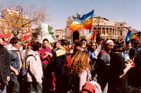 Manifestazione studentesca (Dicembre 2001) Piazza Politeama  PALERMO Guido  Caruso