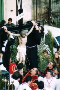 Settimana Santa - La Crocifissione  - Mussomeli (5383 clic)