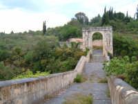 CANICATTINI BAGNI:Il Ponte di S. Alfano, antico costrutto di pietra dell'anno 1796. Al di sopra del ponte, stanno scolpiti,in pietra da taglio del tempo, due personaggi, portanti ciascuno una bottiglia e un pane. Una graziosa leggenda li dipinge come campieri, uno di nome Currarinu e l'altro Calamaru i quali, per odi personali, si uccisero proprio sopra il ponte.Il ponte congiunge il territorio di Canicattini all'exe feudo S. Alfano....salvatore petruzzelli   - Canicattini bagni (4242 clic)