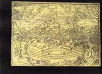 Patente Sanitaria Marittima di Scicli (con veduta della città di Scicli del 1700). SCICLI Davide Mil