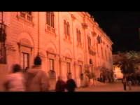 La sede del Municipio di Scicli, già sede del commissariato di polizia nella fiction 'Il Commissario