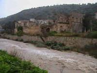 Piena del torrente Modica-Scicli, nei pressi del convento di Sant'Antonino - data 31/01/2006 SCICLI