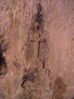 Particolare dell'acquasantiera che si trova nella sagrestia della chiesa del Calvario. SCICLI Davide