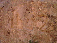Iscrizione (1602) in roccia sul colle della Croce.  - Scicli (1749 clic)