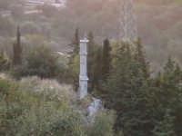 Campanile della chiesa rupestre del Calvario (XII°sec).  - Scicli (1989 clic)