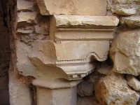 Particolare di un capitello del loggiato di stile Chiaramontano del convento di Sant'Antonino-Architettura pre-Terremoto del 1693-  - Scicli (1817 clic)