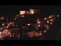 Vista Notturna di Scicli dal colle di San Matteo. Sullo sfondo chiesa del Rosario. SCICLI Davide Mil