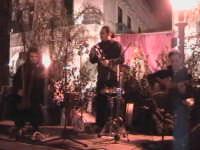 Suonatori di musica Medievale in Piazza Italia per la Cavalcata di San Giuseppe. SCICLI Davide Milit