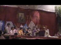 Celebrazione della Santa Messa nel luogo dove avverrà la tradizionale cena di San Giuseppe. SCICLI D