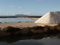 Stagnone Marsala particolare delle saline, in fondo un'isola delle Egadi  - Marsala (2432 clic)
