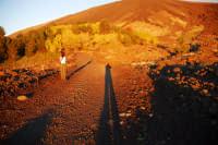 Monte Etna. Tramonto rosso sul versante Nicolosi.  - Nicolosi (2103 clic)