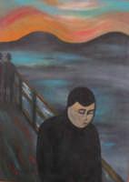 Omaggio a Munch  La disperazione. Acrilico su Tela - 50x70  - San mauro castelverde (4741 clic)