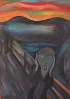 Omaggio a Munch  L'Urlo . Acrilico su Tela - 50x70  - San mauro castelverde (2062 clic)