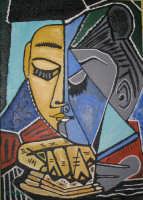 Omaggio a Picasso  Testa di Donna Pensante . Acrilico su Tela - 50x70  - San mauro castelverde (5830 clic)