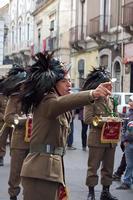 Fanfara dei bersaglieri Bersagliri alla parata militare di Paternò 2011  - Paternò (4734 clic)