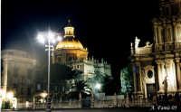 Catania by Night-Cupola Badia di S. Agata da p.zza Duomo  - Catania (2811 clic)