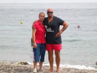 da sinistra : Salvatore lipari e Mario Bilardo  sulla spiaggia del Sun beach  - Patti marina (11452 clic)
