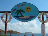 Spiaggia attrezzata Sun Beach logo insegna.  - Patti marina (2547 clic)