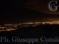 Catania in vista notturna dall'Etna  - Etna (2124 clic)