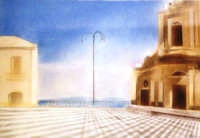 DUOMO CON PIAZZA  TECNICA: ACQUERELLO, ANONIMO DI CENTURIPE  - Centuripe (3278 clic)
