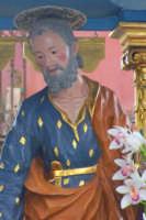 Primo piano del simulacro ligneo del '700 del Patriarca San Giuseppe   - Catenanuova (4172 clic)