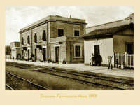 ANTICA STAZIONE FERROVIARIA, ANNO 1943, CATENANUOVA  - Catenanuova (12605 clic)