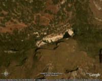 FOTO SATELLITARE PANORAMICA AMPIA ANCORA PIU' VICINA IN DIREZIONE LAGHETTI AVOLA  - Cava grande del cassibile (9608 clic)