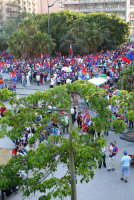 Festeggiamenti per la promozione del Catania in serie A. Tifosi in festa.  - Catania (2108 clic)