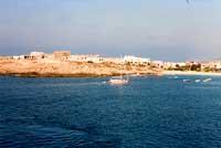 Costa di Lampedusa - veduta della spiaggia della guitcia  - Lampedusa (6190 clic)