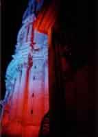 particolare della chiesa di San  Giorgio ripreso durante i  festeggiamenti per il centenario  di Salvatore Quasimodo  - Modica (2359 clic)