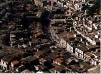 Panorama aereo di Modica - corso Umberto I (San Francesco la cava) MODICA Comune di Modica