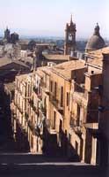 Panoramica dall'alto della scalinata di S.Maria del Monte CALTAGIRONE Giambattista Scivoletto