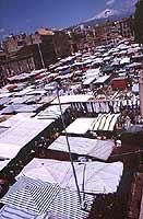 Il Mercato di Catania in Piazza Carlo Alberto - sullo sfondo l'Etna  - Catania (2335 clic)