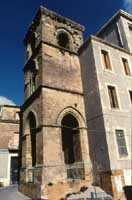 Torre campanaria della ex chiesa di San Giovanni  trasformata in uffici comunali. La torre è della fine del 1200 - inizi del 1300  - Enna (4909 clic)
