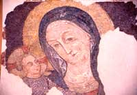 Chiesa di S. Andrea - Particolare di affresco del XV sec  - Piazza armerina (3907 clic)