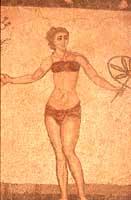 Mosaici - Sala delle dieci giovani donne (particolare)  - Villa romana del casale (4510 clic)