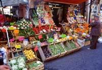 bancarelle di frutta e verdura