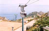 Funivia che porta alla spiaggia di Mazzarò e a Isolabella  - Taormina (12431 clic)