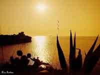tramonto su cala rossa  - Terrasini (11333 clic)