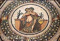 Mosaici - Scena dell'amore  - Piazza armerina (18682 clic)