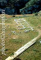 l'Anaktoron in una vista aerea  - Pantalica (3940 clic)